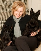 Jen Moser Indiana Pet Photographer with two Scottie Dogs