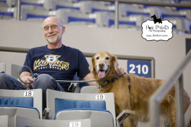 Indiana Pet Photographer_Paw Prints Pet Photography_Fort Wayne Pet Photographer_Fort Wayne Mad Ants_Hoops Hounds_Dogs at basketball game